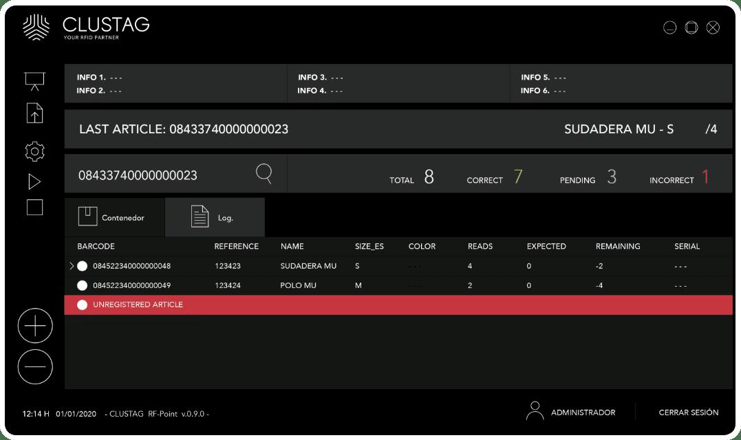 Captura de pantalla de software - Modo noche 1