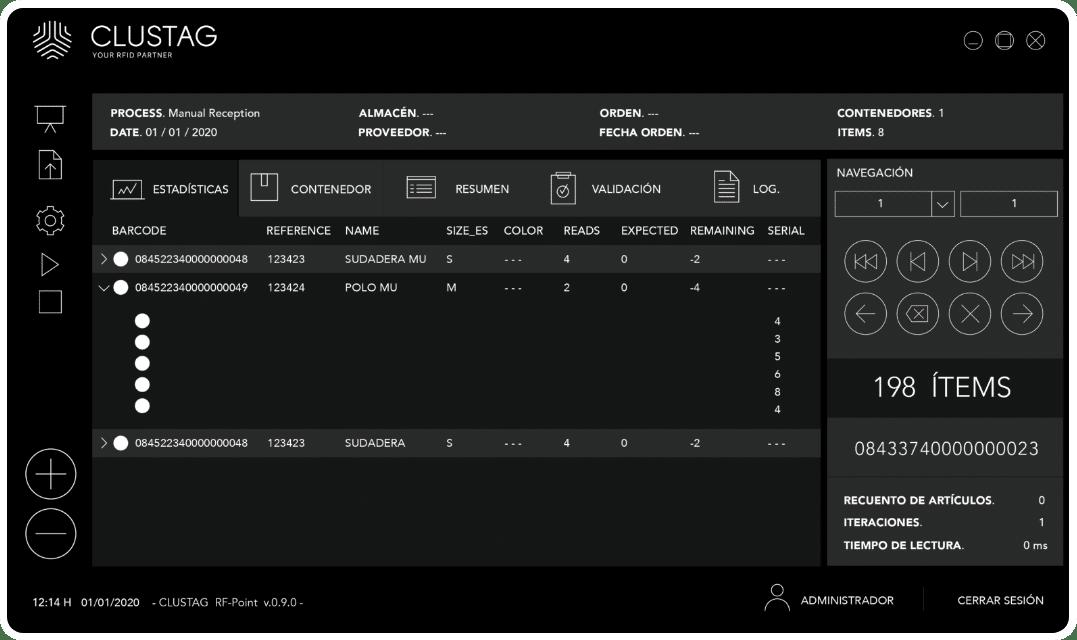 Captura de pantalla de software - Modo noche 2